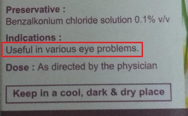 Patanjali Drishti Eye Drop Benefits