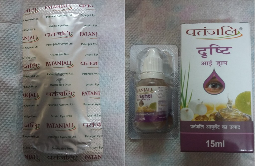 Patanjali Drishti Eye Drop Packaging