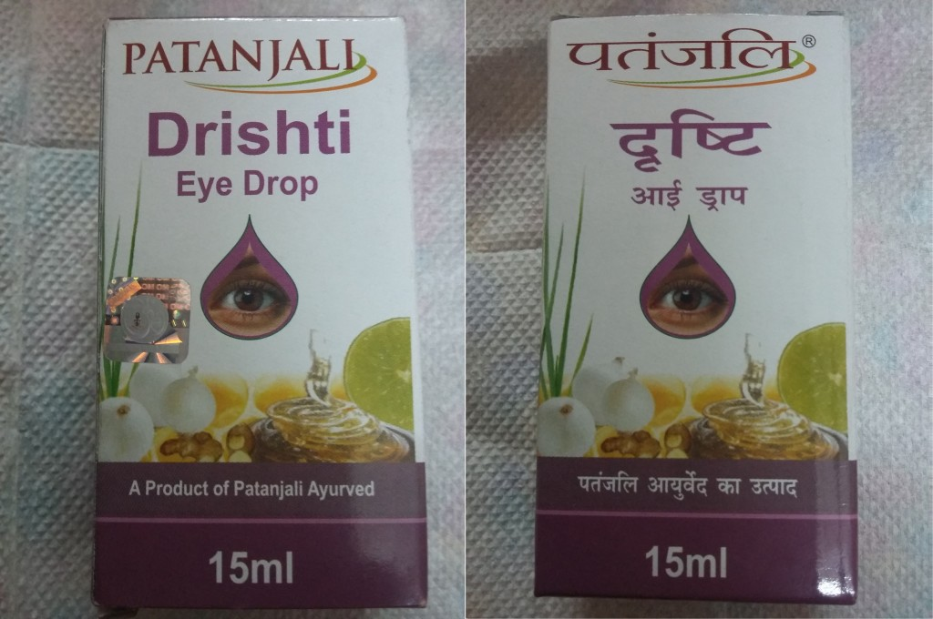 Review Patanjali Drishti Eye Drop Packing