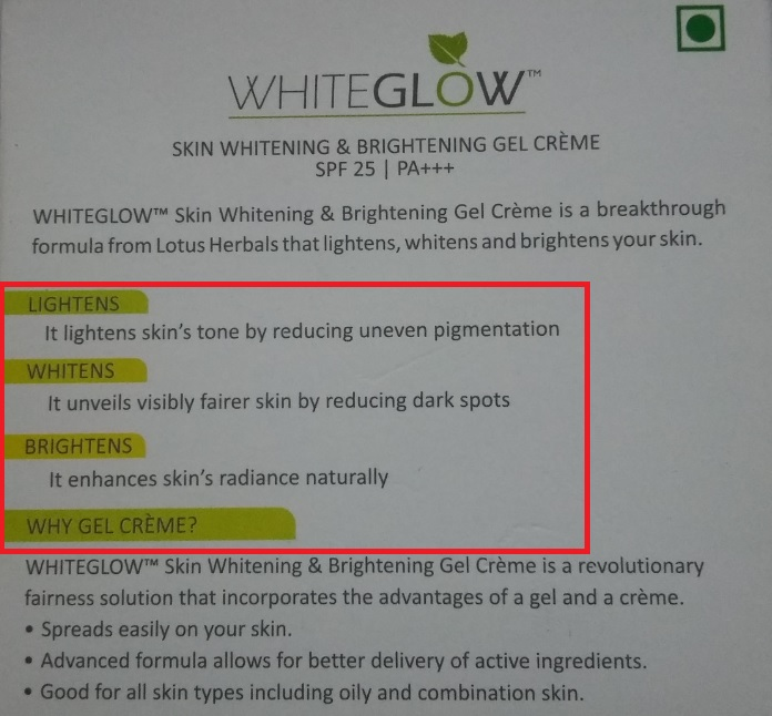 Review: Lotus Herbals Whiteglow Skin Whitening and Brigitining Creme