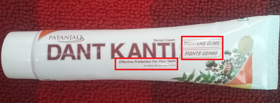 Patanjali Toothpaste Review