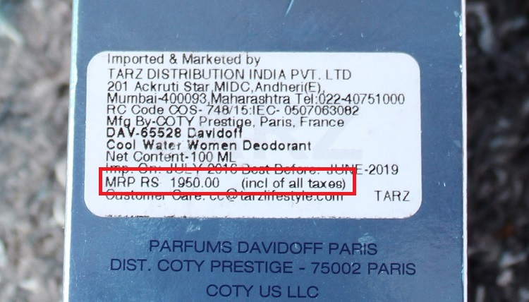 DAVIDOFF Cool Water Woman Price in india