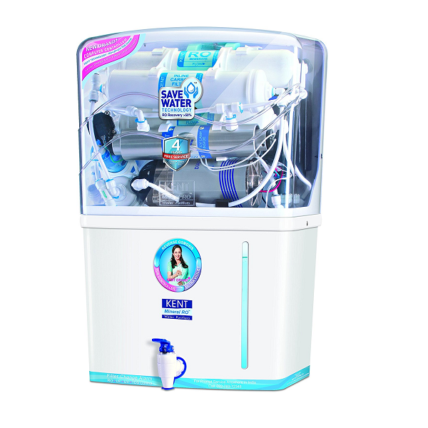 Best water purifiers in India - 4. Kent Grand Plus 8-Litre RO+UF+UV with TDS Controller Water Purifier